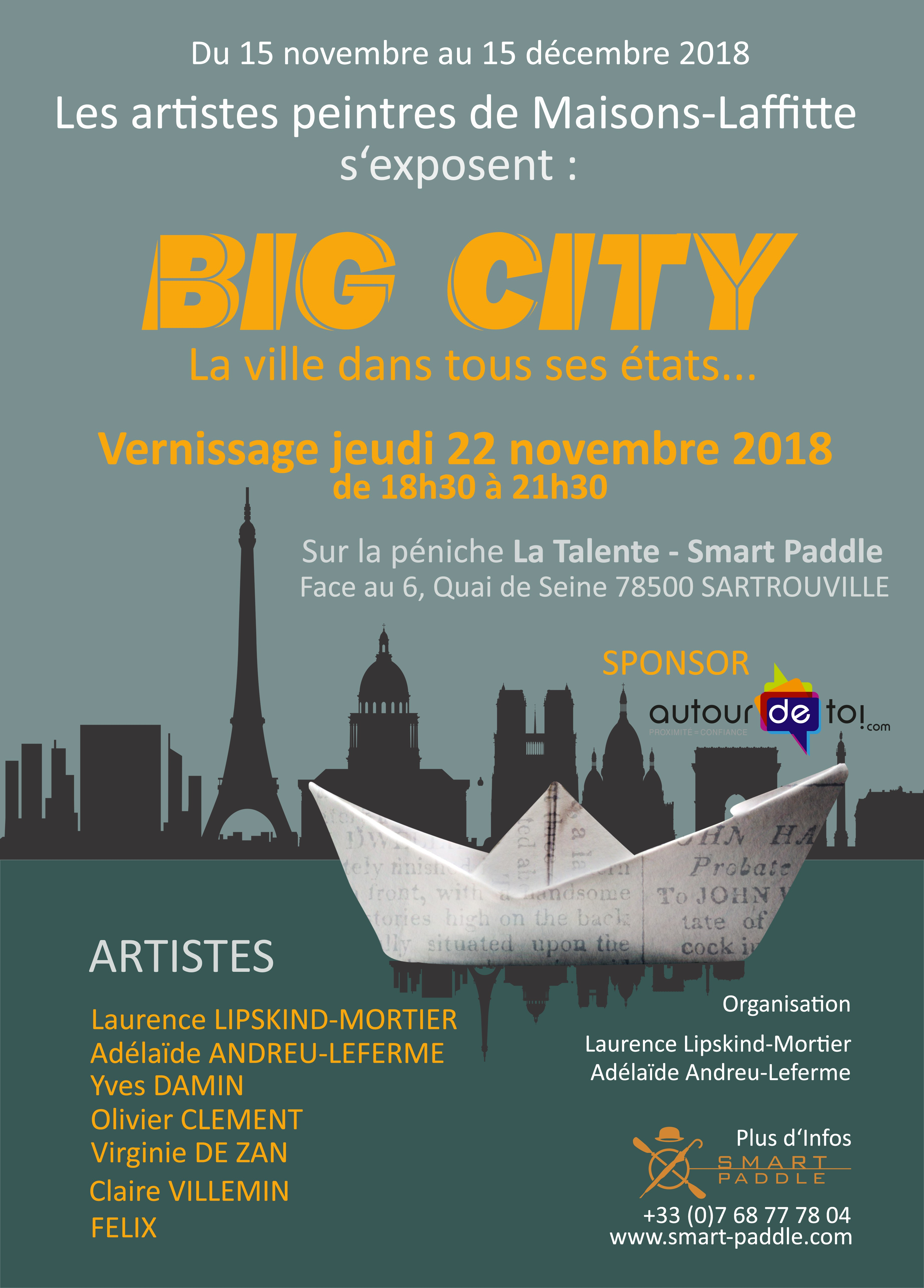 affiche vernissage BIG CITY smart paddle